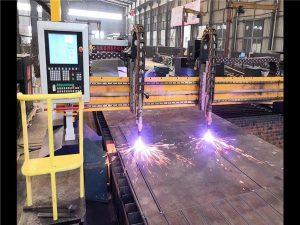 Çift sürücü portal cnc plazma kesme makinası h ışın üretim hattı hypertherm cnc sistemi