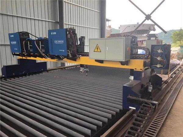 Katı Çelik H Kiriş Üretim Hattı Kesim İçin Çift Tahrikli Portal CNC Plazma Kesme Makinesi