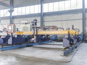 Akıllı Portal tipi cnc metal plaka kesme makinası otomatik plazma ve alev kesici makineleri