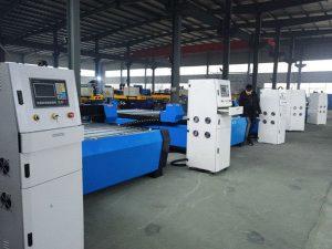 Yeni tasarım masaüstü / tezgah profil plazma / alev kesme makinası üreticileri cnc masaüstü plazma alev kesme makinası