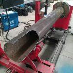 Dönen şaft cnc daire tüp düşük maliyetli cnc plazma kesme makinası